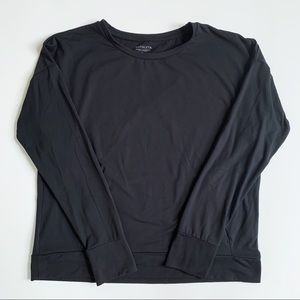 Athleta Black Long Sleeve Top